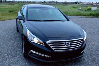 Hyundai Sonata черная на свадьбу