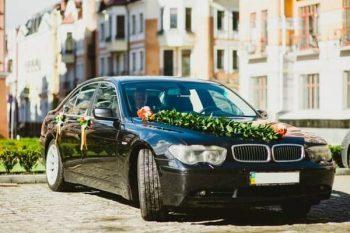 BMW 745L черный на свадьбу