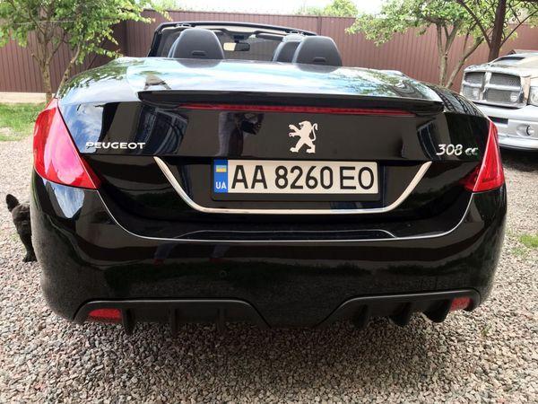 Peugeot 308CC черный кабриолет на прокат в киеве