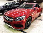 Mercedes С300 красный аренда авто код 107
