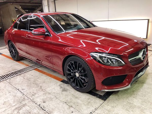 Mercedes C300 красный заказать с водителем киев