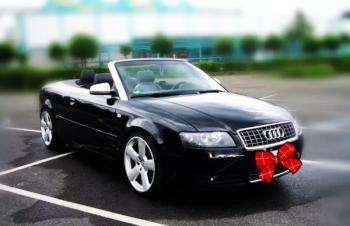 Кабриолет Audi A4 аренда авто на свадьбу