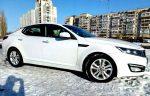 Kia Optima белый аренда авто код 228