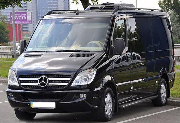 Mercedes Sprinter черный вип аренда микроавтобуса 8 мест