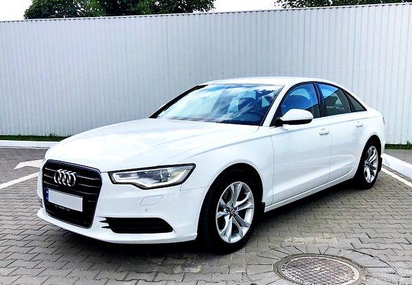 Audi А6 белая аренда на прокат в киеве
